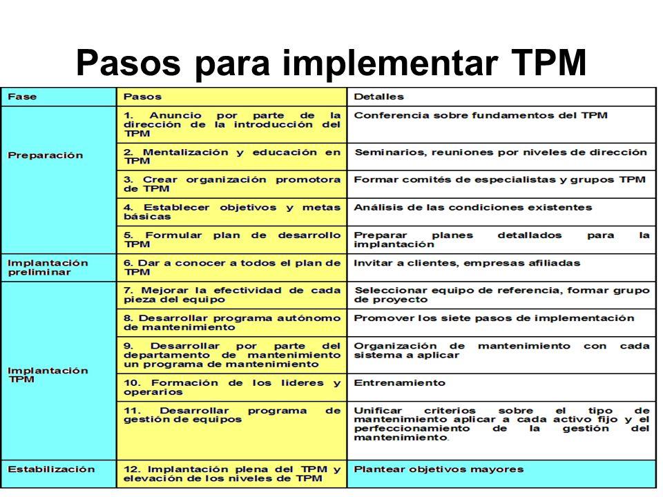 Pasos para implementar TPM
