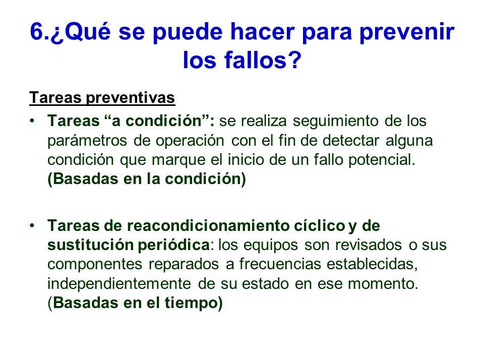6.¿Qué se puede hacer para prevenir los fallos.