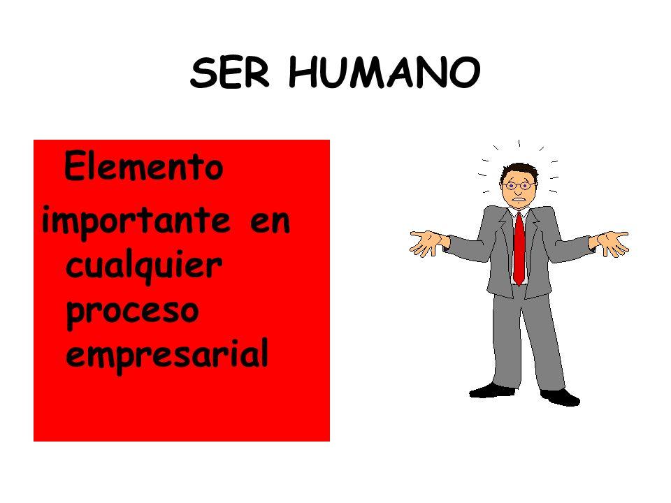 SER HUMANO Elemento importante en cualquier proceso empresarial