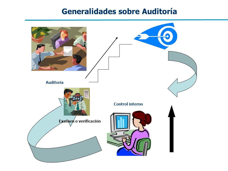 Generalidades sobre Auditoría Control interno Auditoría Examen o verificación