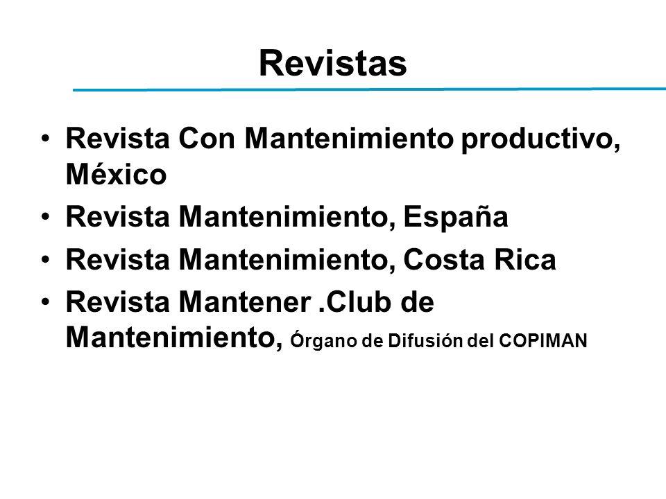 Revistas Revista Con Mantenimiento productivo, México Revista Mantenimiento, España Revista Mantenimiento, Costa Rica Revista Mantener.Club de Manteni