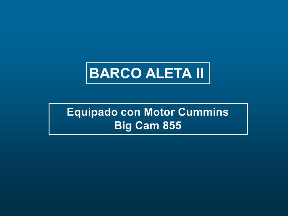 BARCO ALETA II Equipado con Motor Cummins Big Cam 855