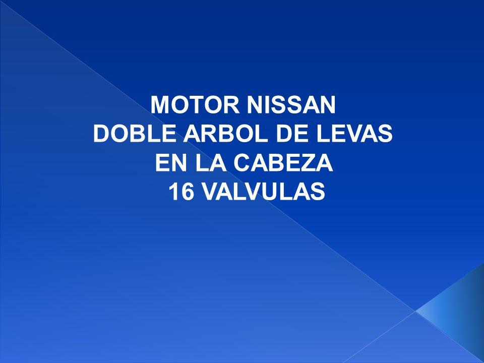 MOTOR NISSAN DOBLE ARBOL DE LEVAS EN LA CABEZA 16 VALVULAS Turbocargador de admisión de aire y del sistema de escape