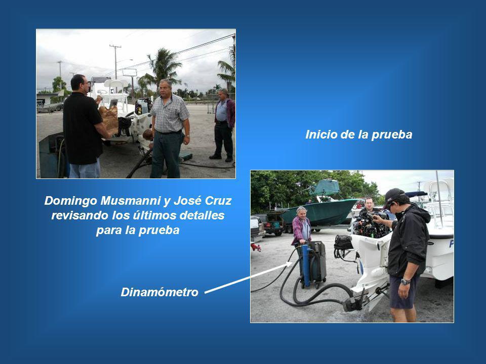Inicio de la prueba Domingo Musmanni y José Cruz revisando los últimos detalles para la prueba Dinamómetro