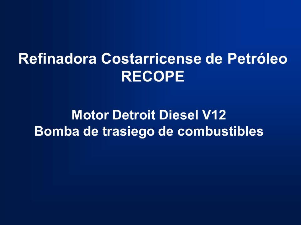 Refinadora Costarricense de Petróleo RECOPE Motor Detroit Diesel V12 Bomba de trasiego de combustibles