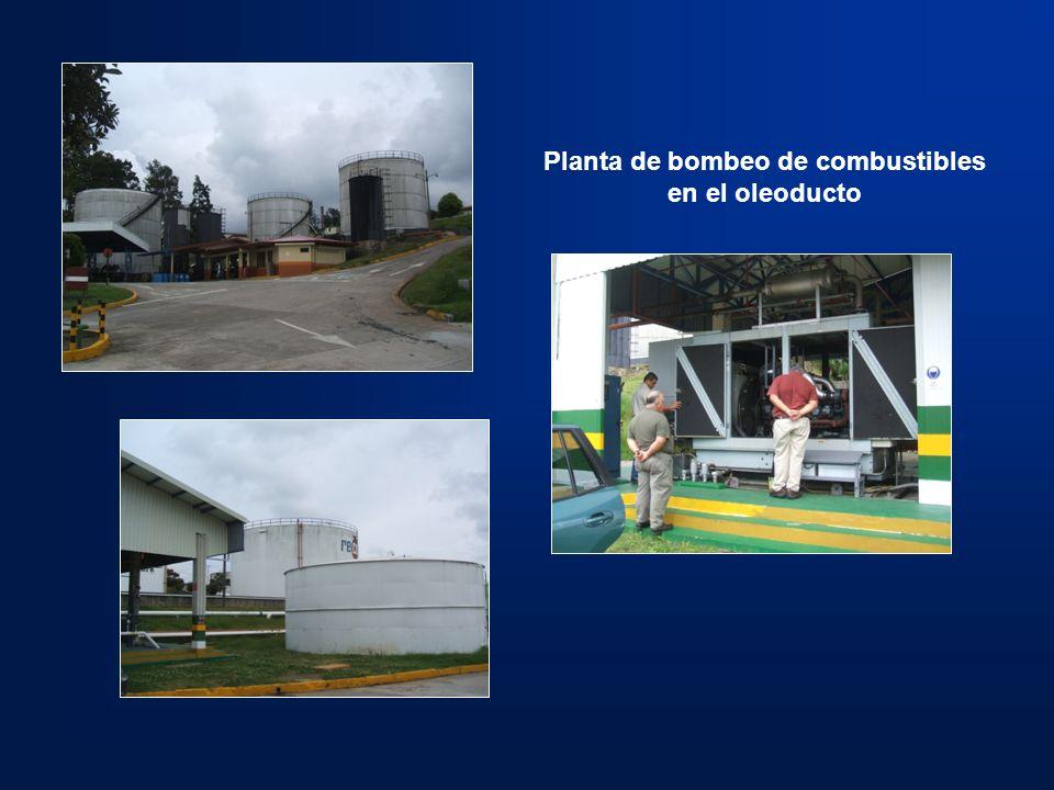 Planta de bombeo de combustibles en el oleoducto