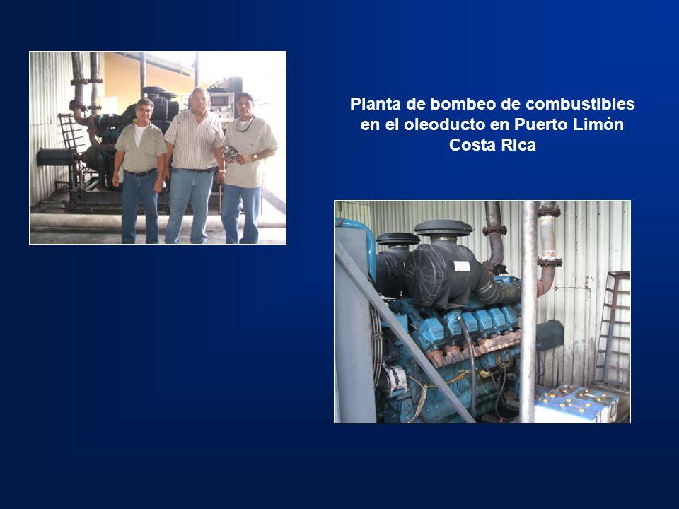 Planta de bombeo de combustibles en el oleoducto en Puerto Limón Costa Rica