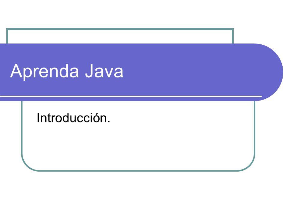 Aprenda Java Introducción.