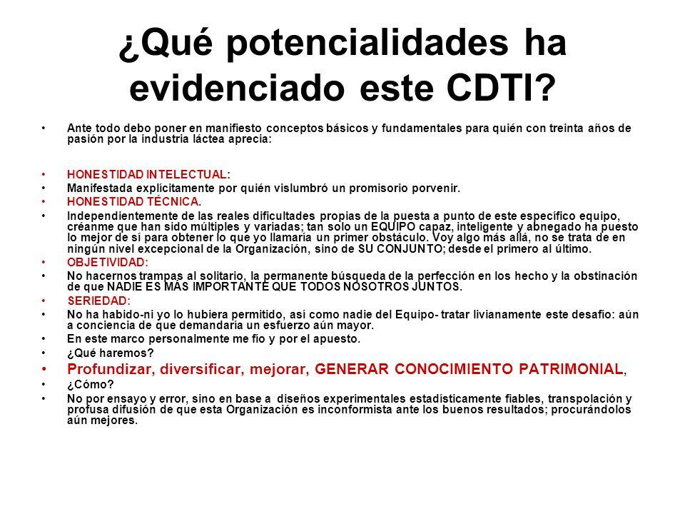 ¿Qué potencialidades ha evidenciado este CDTI? Ante todo debo poner en manifiesto conceptos básicos y fundamentales para quién con treinta años de pas