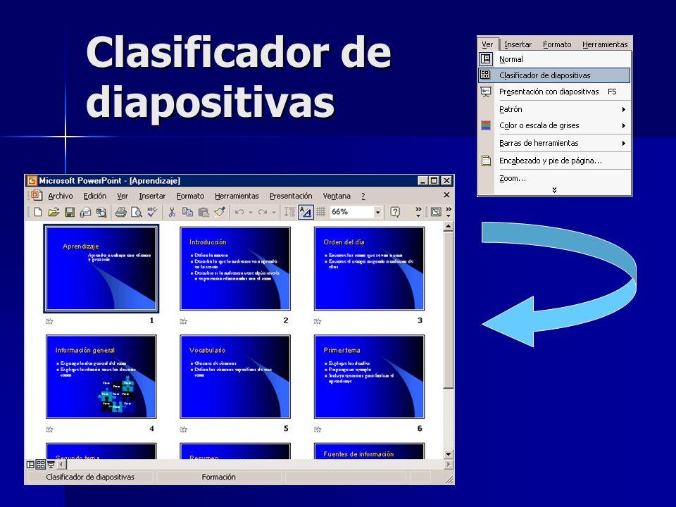 Clasificador de diapositivas