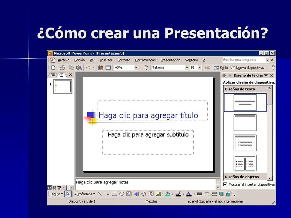 ¿Cómo crear una Presentación?