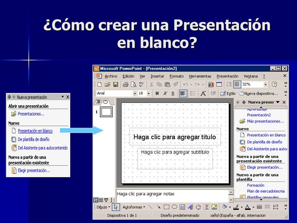 ¿Cómo crear una Presentación en blanco?