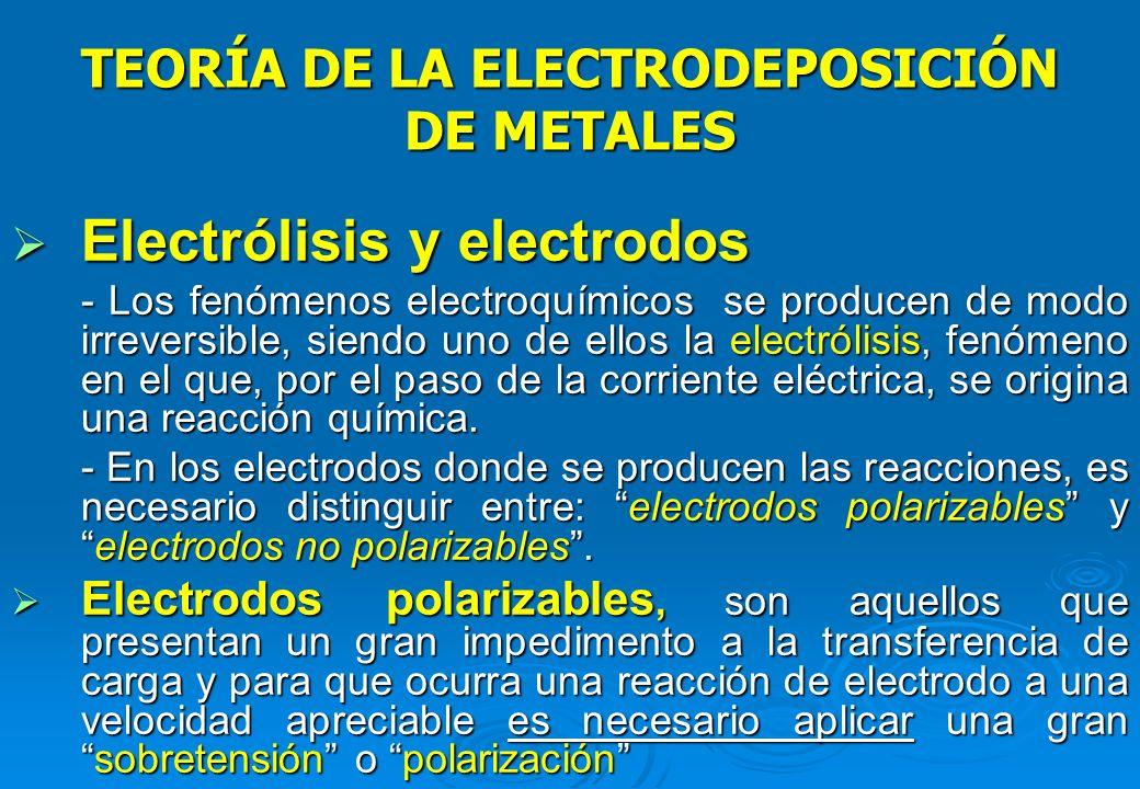TEORÍA DE LA ELECTRODEPOSICIÓN DE METALES Principios de electroquímica Principios de electroquímica - Reacciones químicas : combinación homogénea de H