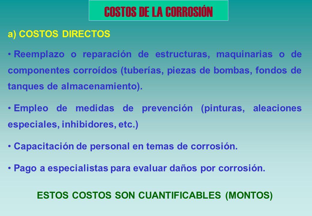 IMPORTANCIA DE LA CORROSIÓN FACTOR SEGURIDAD Fallas por corrosión de equipos o sistemas técnicos con consecuencias de pérdida de vidas humanas FACTOR