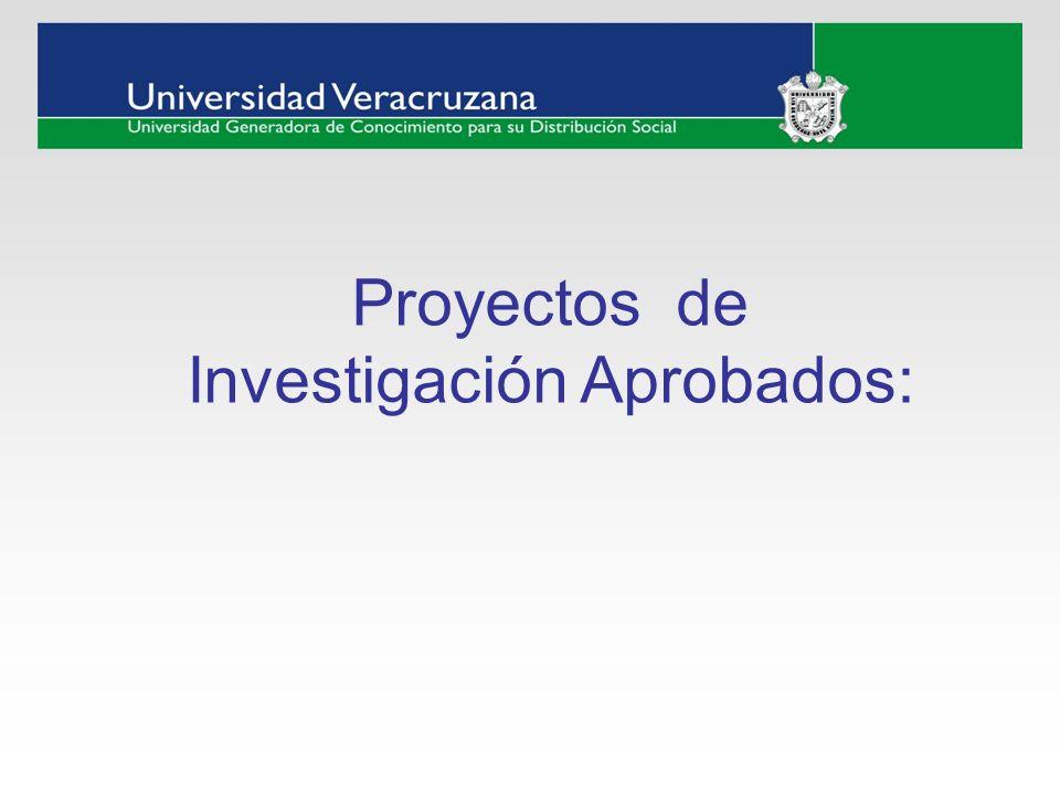 Proyectos de Investigación Aprobados: