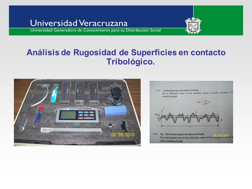 Análisis de Rugosídad de Superficies en contacto Tribológico.