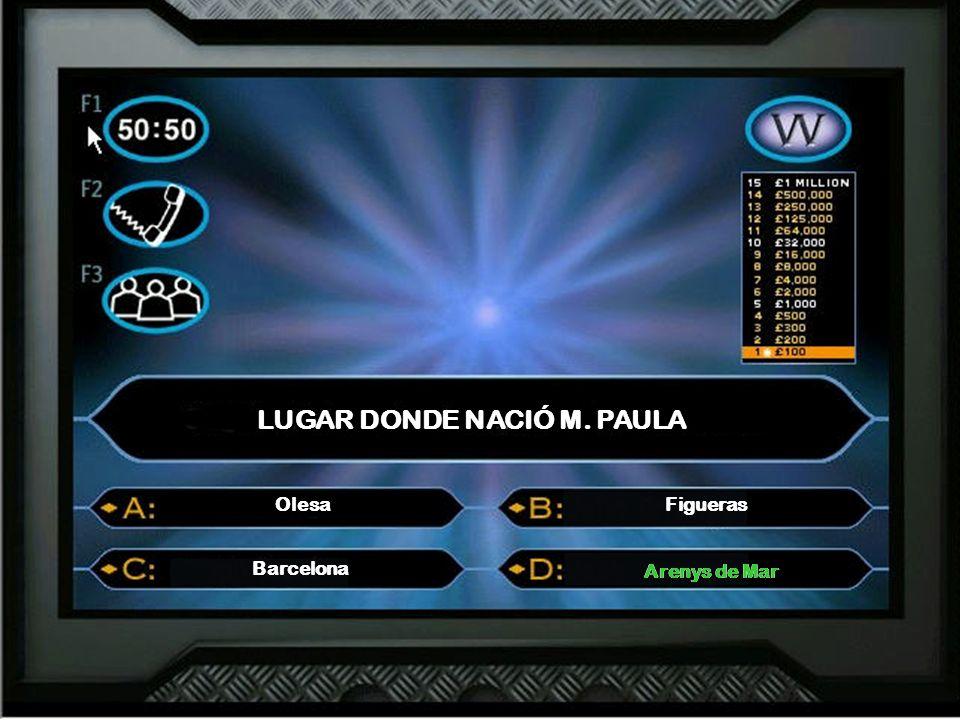 Concurso sobre M. PAULA