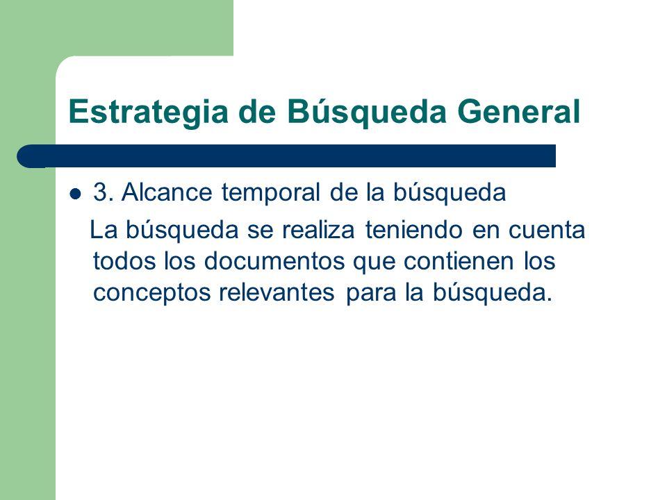 Estrategia de Búsqueda General 4. Recursos de Información Electrónicos y en Español