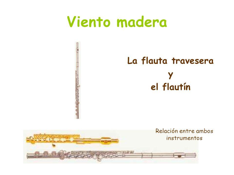 Viento madera La flauta travesera y el flautín Relación entre ambos instrumentos