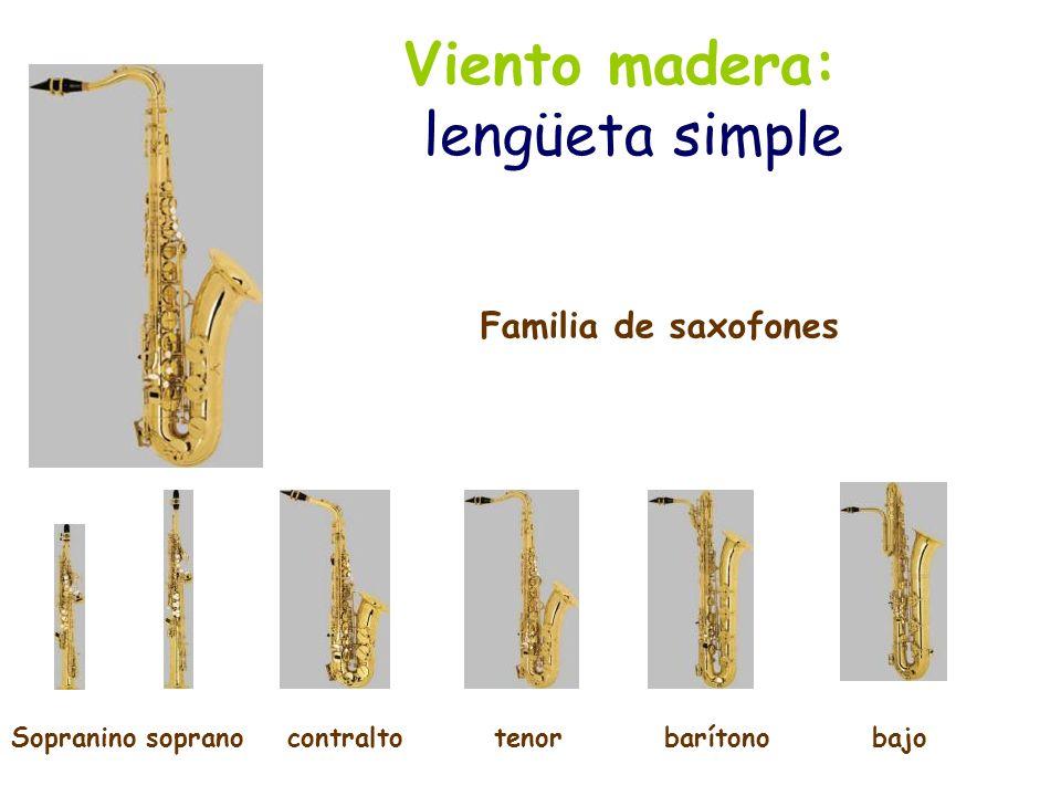 Viento madera: lengüeta doble El oboe