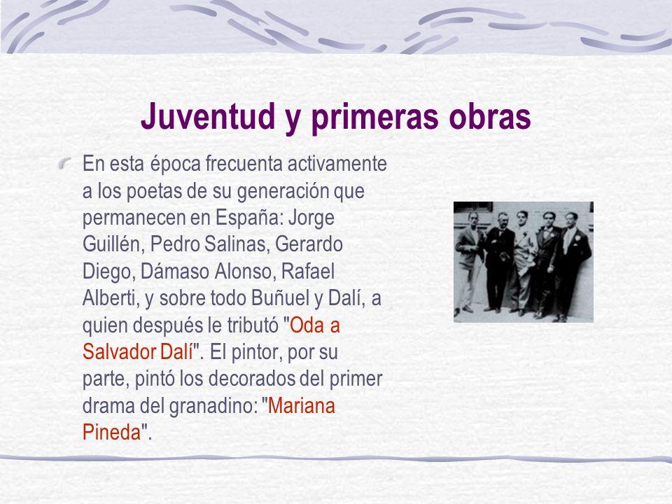 Juventud y primeras obras En esta época frecuenta activamente a los poetas de su generación que permanecen en España: Jorge Guillén, Pedro Salinas, Ge
