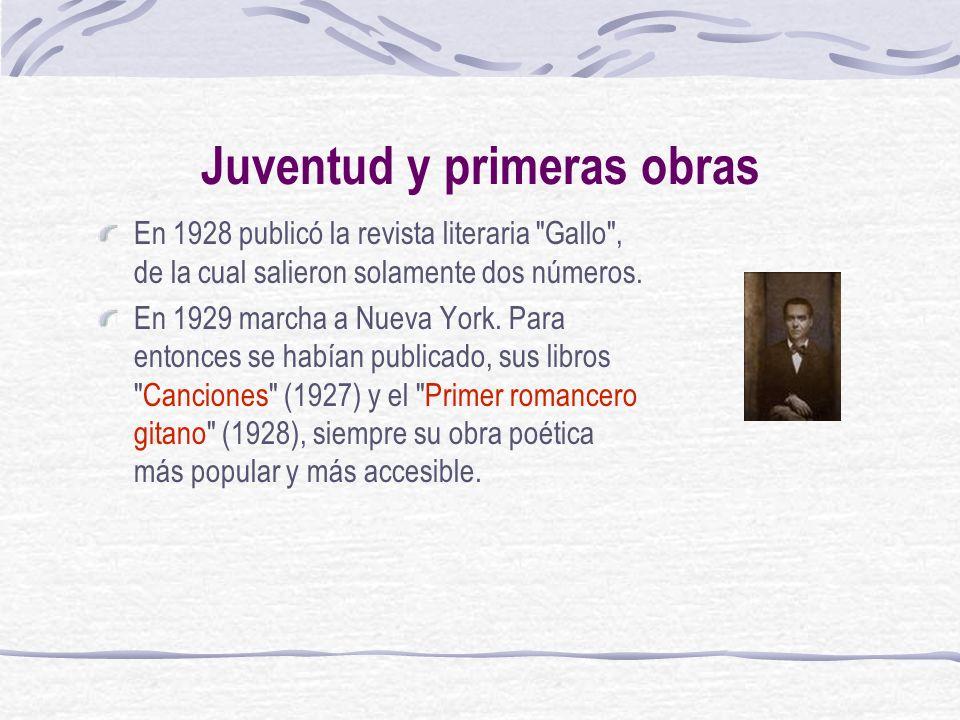 Juventud y primeras obras En 1928 publicó la revista literaria