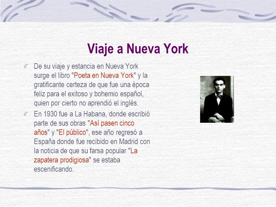 Viaje a Nueva York De su viaje y estancia en Nueva York surge el libro