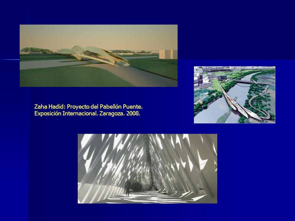 Zaha Hadid: Proyecto del Pabellón Puente. Exposición Internacional. Zaragoza. 2008.