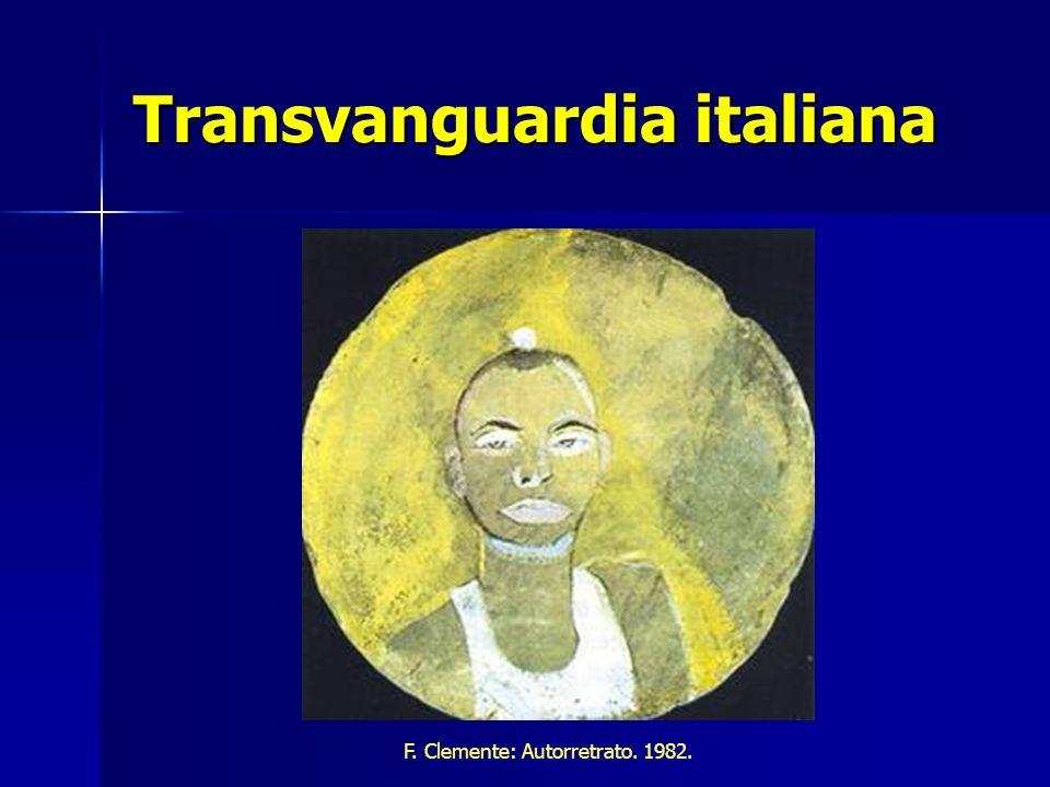 Transvanguardia italiana F. Clemente: Autorretrato. 1982.