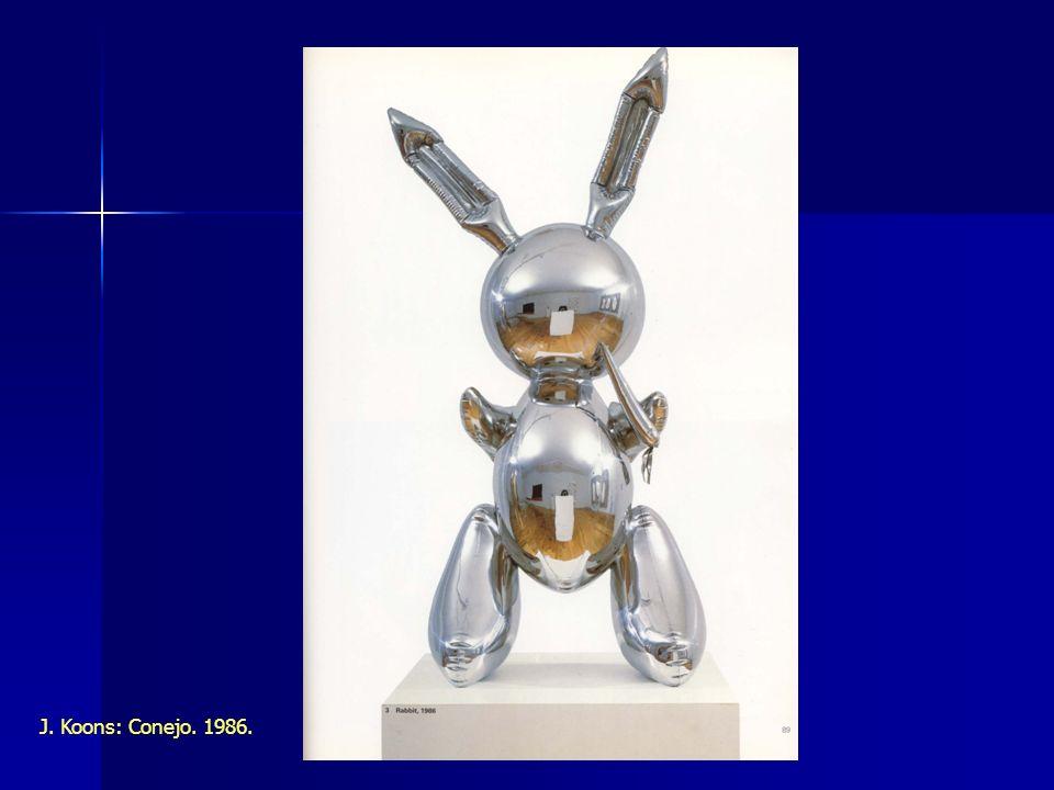 J. Koons: Conejo. 1986.