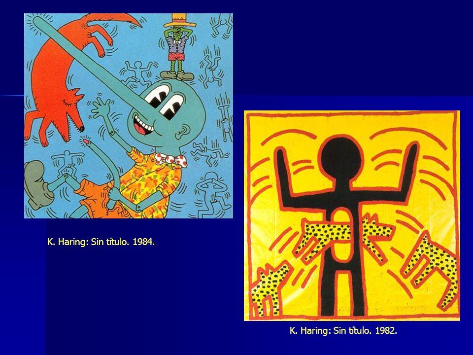 K. Haring: Sin título. 1984. K. Haring: Sin título. 1982.