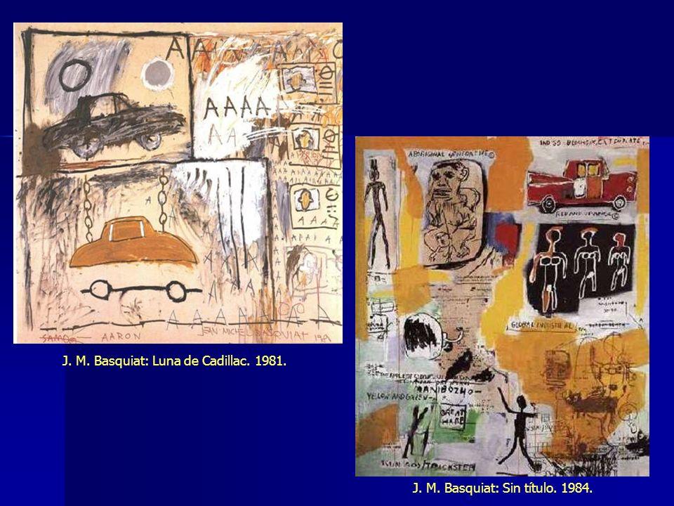J. M. Basquiat: Luna de Cadillac. 1981. J. M. Basquiat: Sin título. 1984.