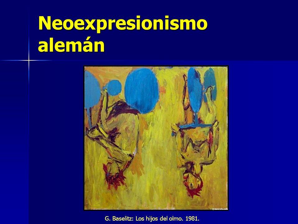 Neoexpresionismo alemán G. Baselitz: Los hijos del olmo. 1981.