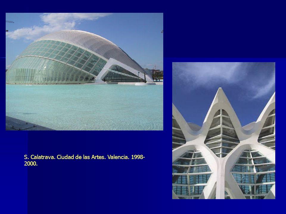 S. Calatrava. Ciudad de las Artes. Valencia. 1998- 2000.
