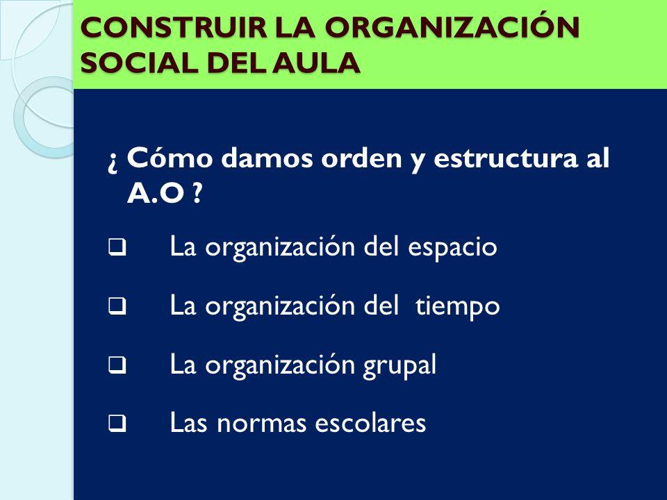La organización del aula de apoyo La organización del aula de apoyo Las sesiones de apoyo no tienen que sustituir a las que se llevan a cabo en el aul