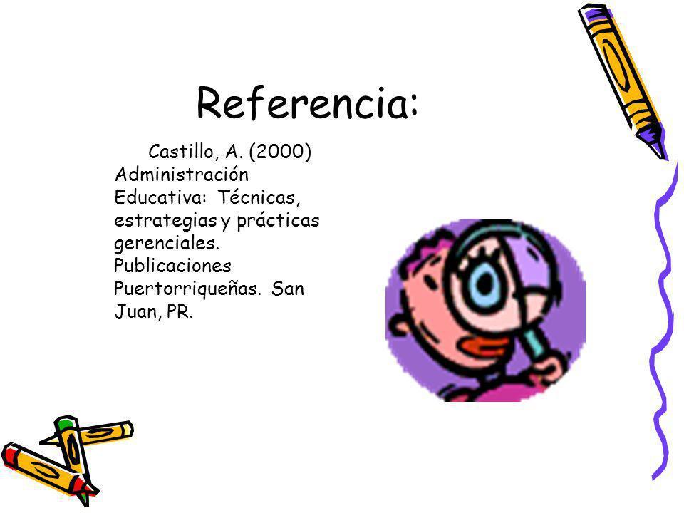 Referencia: Castillo, A.