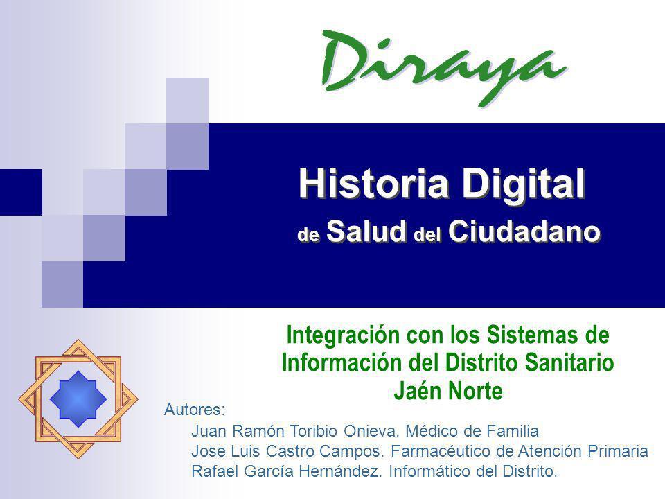 Historia Digital de Salud del Ciudadano Integración con los Sistemas de Información del Distrito Sanitario Jaén Norte Autores: Juan Ramón Toribio Onie