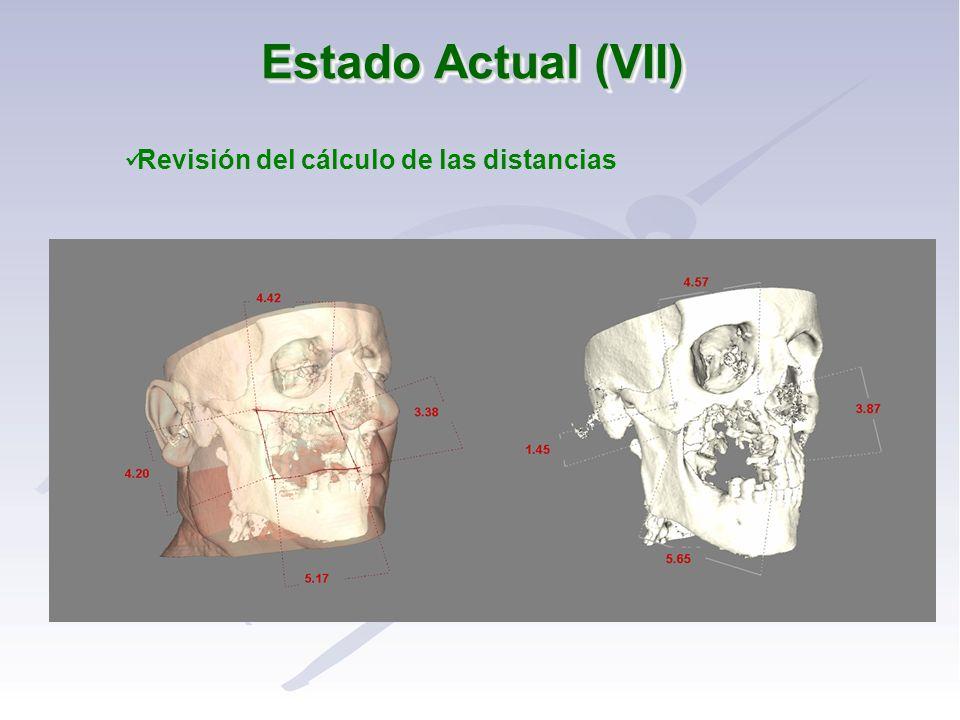 Estado Actual (VII) Revisión del cálculo de las distancias
