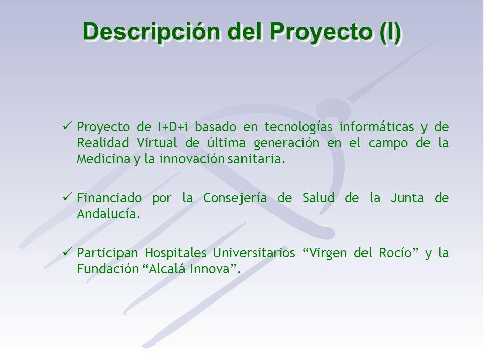 Descripción del Proyecto (I) Proyecto de I+D+i basado en tecnologías informáticas y de Realidad Virtual de última generación en el campo de la Medicin