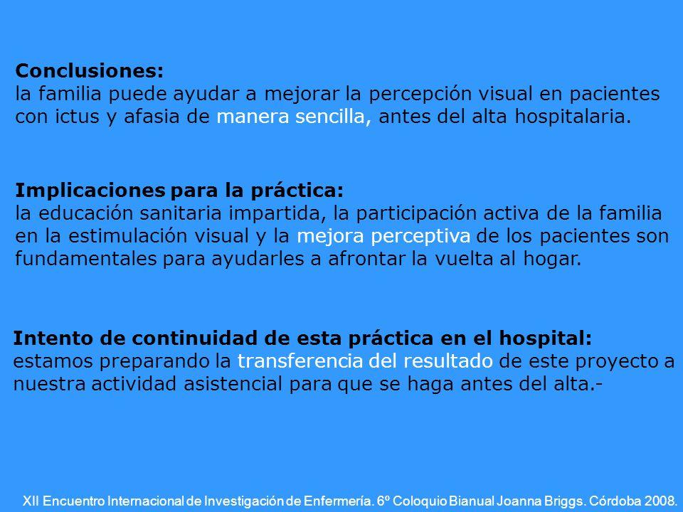 XII Encuentro Internacional de Investigación de Enfermería.