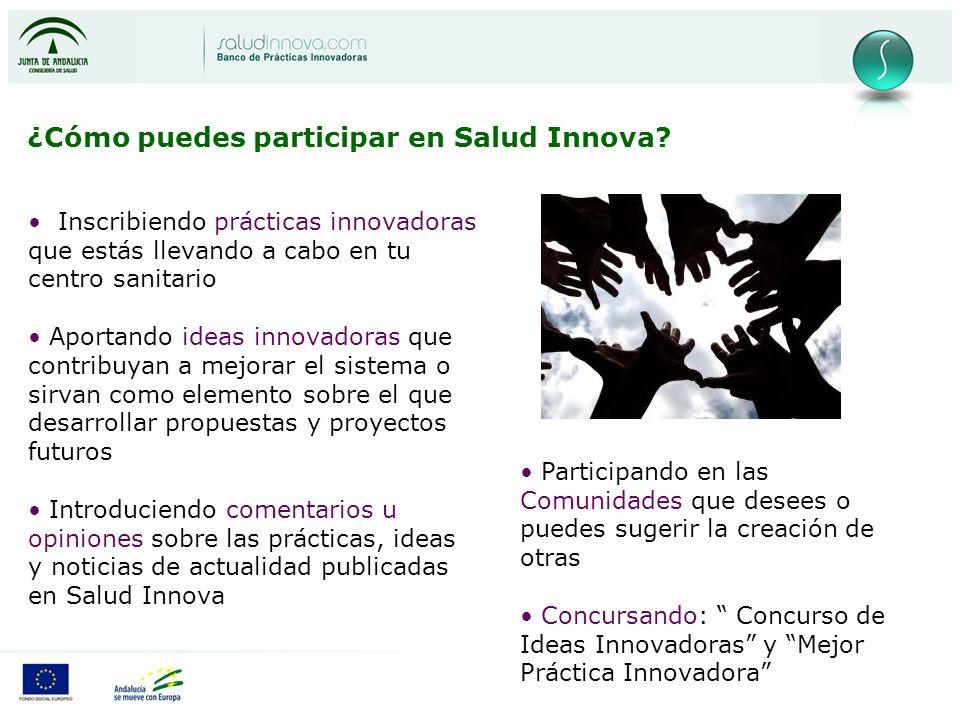 ¿Cómo puedes participar en Salud Innova.