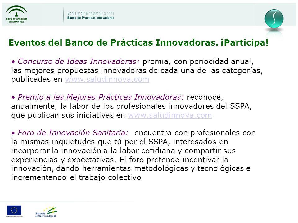 Eventos del Banco de Prácticas Innovadoras.¡Participa.
