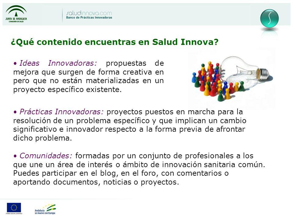 ¿Qué contenido encuentras en Salud Innova.