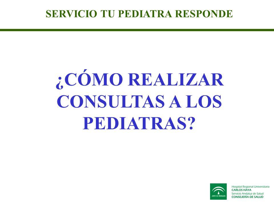 SERVICIO TU PEDIATRA RESPONDE ¿CÓMO REALIZAR CONSULTAS A LOS PEDIATRAS