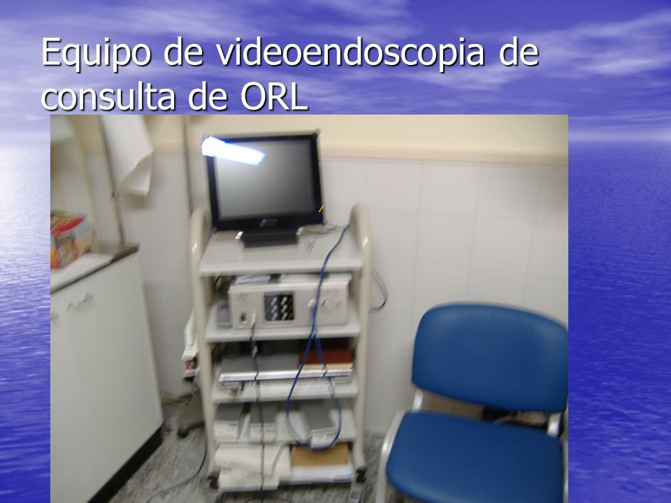 Equipo de videoendoscopia de consulta de ORL