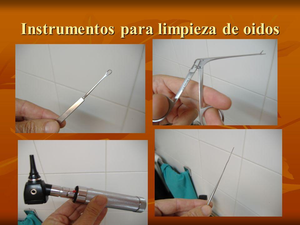 Instrumentos para limpieza de oidos