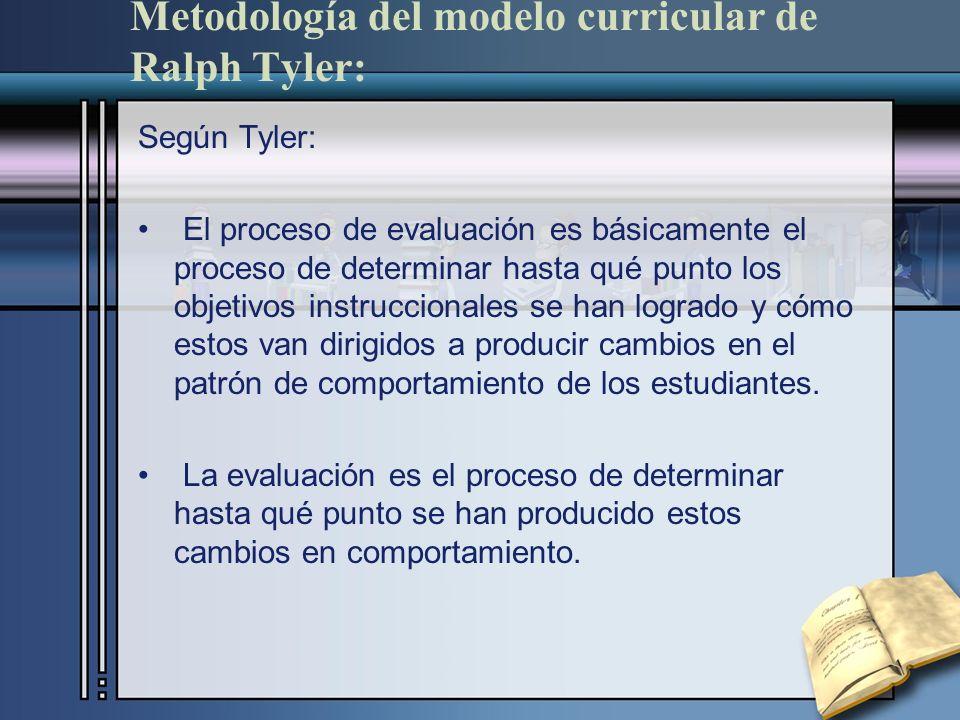 Tyler identificó cuatro preguntas que deben proveer los parámetros para estudio de currículo.