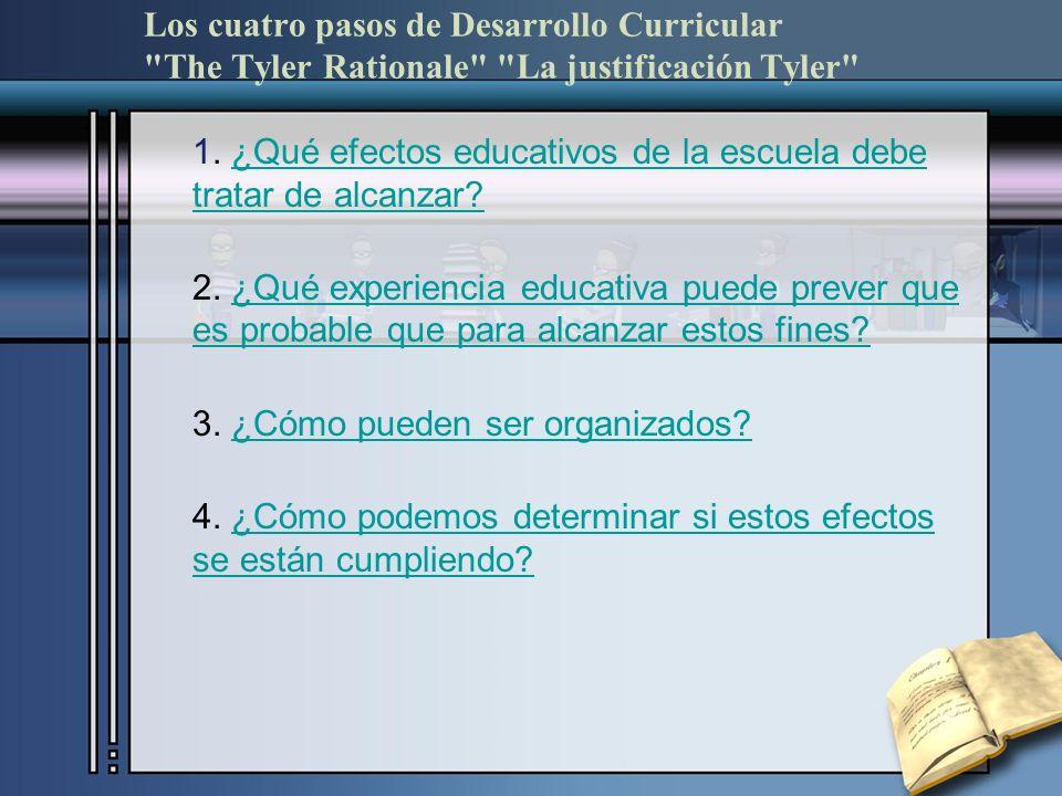 Los cuatro pasos de Desarrollo Curricular