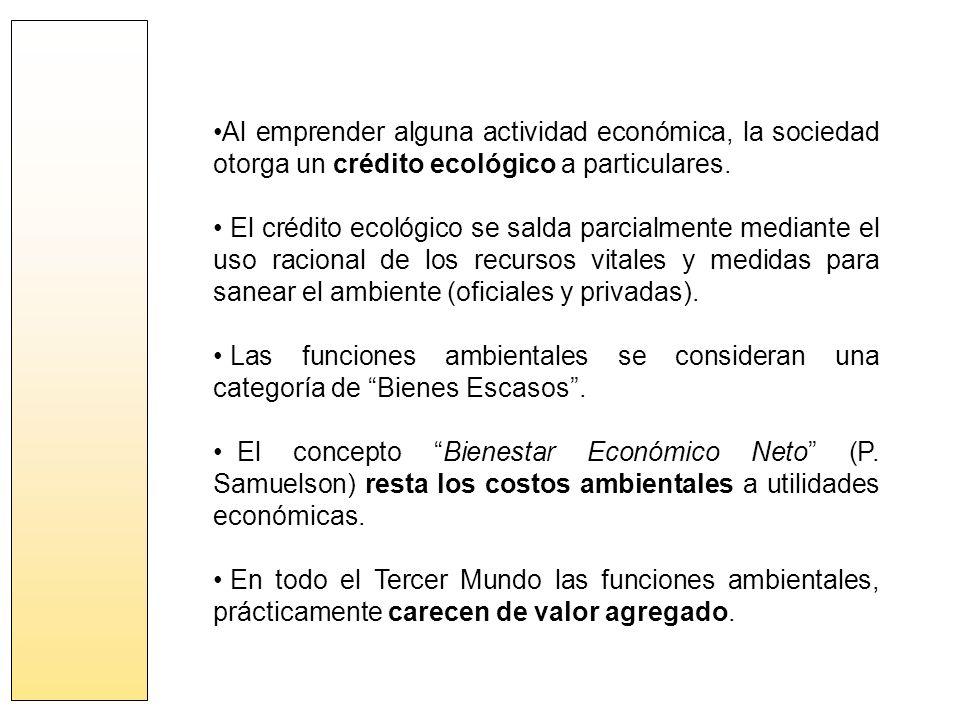 Al emprender alguna actividad económica, la sociedad otorga un crédito ecológico a particulares.