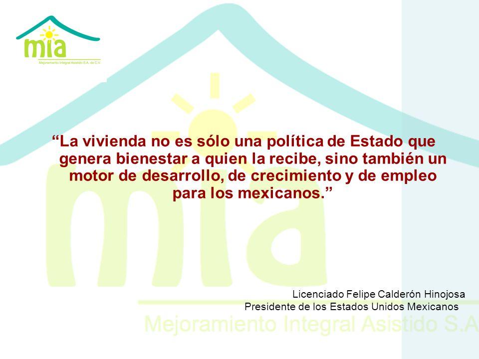 La vivienda no es sólo una política de Estado que genera bienestar a quien la recibe, sino también un motor de desarrollo, de crecimiento y de empleo